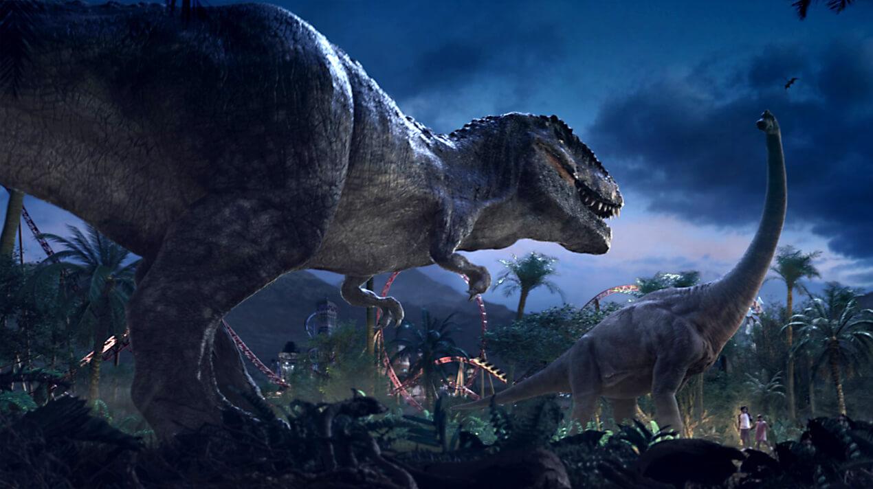 Dinosaurs at IMG Worlds of Adventure. Dubai.