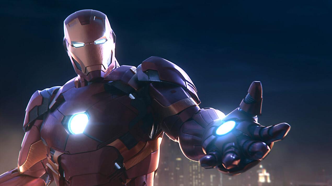 Iron Man at IMG Worlds of Adventure. Dubai.