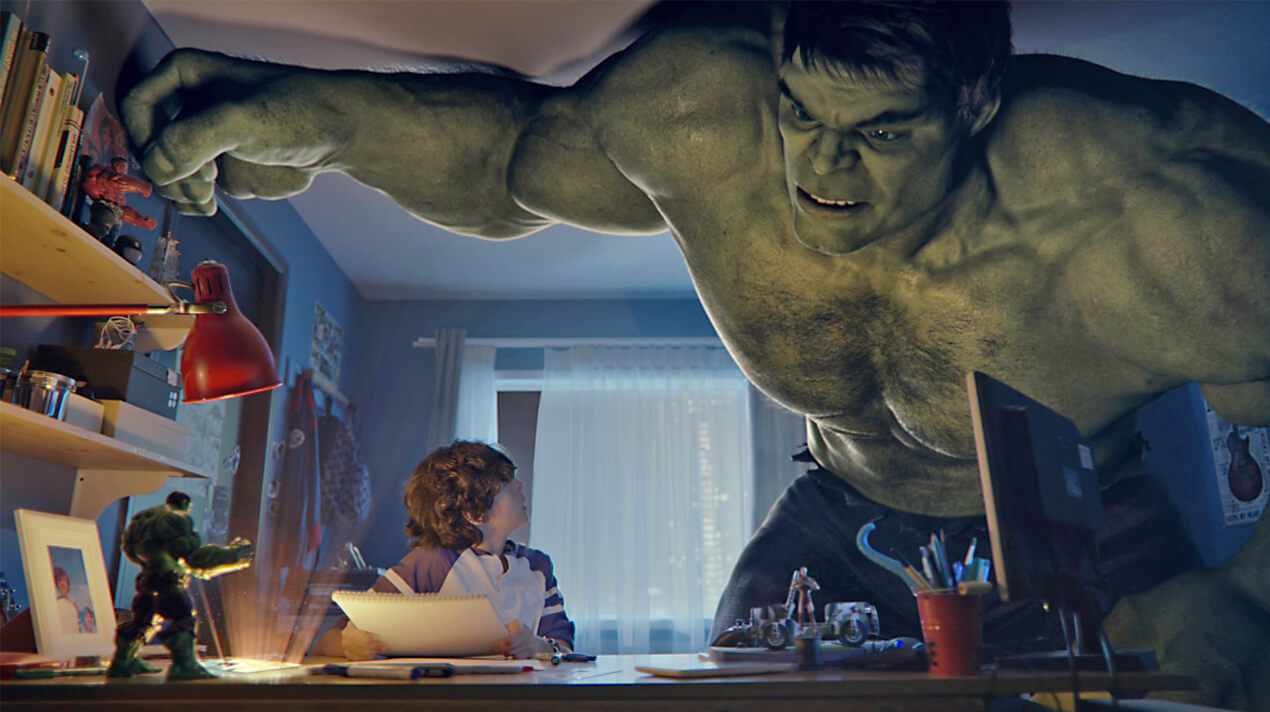 Hulk at IMG Worlds of Adventure. Dubai.